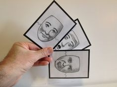 3 of the 24 emotion face cards I made.  Click to see how I made them.