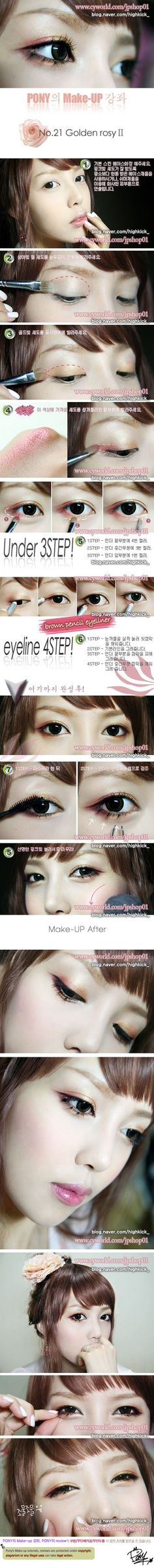 Ulzzang Pony Makeup Tutorial - Golden Rosy II