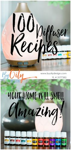 100 diffuser recipes that will make your home smell amazing. from Holiday diffuser recipes to diffusing your starter kit oils. This list has you covered! www.byoilydesign.com via @ruth_rackley