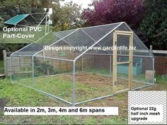 A MUST have. A secure enclosure to put the coop inside.Various sizes from 2m x 2m to 6m x 6m. Prices from £299.