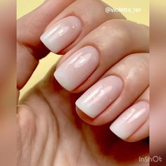 Nude Nails, Manicure And Pedicure, Diy Gel Nails, Shellac French Manicure, Natural French Manicure, Shellac Nail Designs, Natural Nail Art, Natural Looking Nails, Natural Gel Nails
