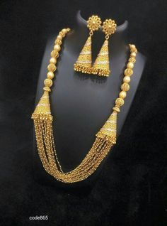 Gold Temple Jewellery, Fancy Jewellery, India Jewelry, Gold Jewellery Design, Gold Jewelry, Jewelery, Gold Necklace, Jewelry Patterns, Jewelry Trends