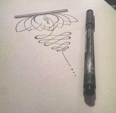 Lotus flower and unalome design