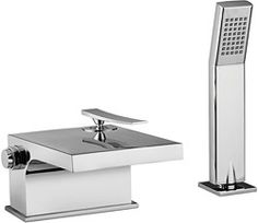 Taps from Tre Mercati have the right balance of quality and style. Tre Mercati Dance Waterfall Bath Shower Mixer Tap With Kit now available on-line. Bath Shower Mixer Taps, Bath Taps, Bathroom Taps, Shower Kits, Interior Decorating, Interior Design, Cool Kitchens, Faucet, Chrome
