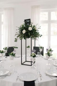 Post Feeds Great for entering to our webpage. You are appreciated to have a look to Minimalist Wedding Decor. This awesome Minimalist Wedding Decor wi. Wedding Table Centerpieces, Table Decorations, Centerpiece Flowers, Centerpiece Ideas, Modern Wedding Decorations, Black And White Centerpieces, Black Wedding Decor, Quinceanera Centerpieces, Modern Centerpieces