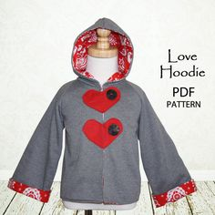 Childrens sewing pattern, girls sewing pattern, baby sewing pattern PDF, Girls jacket coat, Easy beginner, Instant Download, Love Jacket on Etsy, $7.50