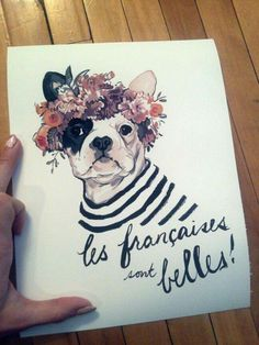 French flower crown