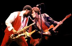 Bruce Springsteen and Clarence Clemons of the E Street Band perform at the Oakland Coliseum, October 28, 1980.    RELATED    - Story :   E Street Band's Clarence Clemons Dies at 69      - Story :   Bruce Springsteen on Clarence Clemons: 'His Loss is Immeasurable'