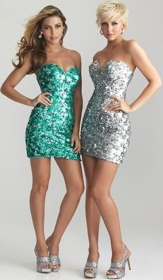 Silver Sequin Sweetheart Short Fitted Prom Dress - $370