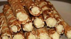 Вафельные трубочки с заварным кремом