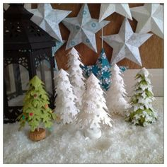 Genius. Tutorial for Christmas Trees made with Festive Flurries Framelits :-D