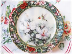 Ruby-throated Hummingbird & Lena Liu The Rufous Hummingbird Collector Plate Treasury Collection ...