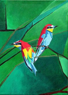 Brightly Colored European Bee-eaters