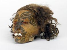 Mokomokai (tattooed faces of the maoris) Headhunting Head