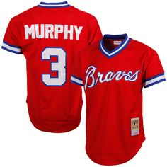 81b059753 Dale Murphy Atlanta Braves Mitchell & Ness 1980 Authentic Cooperstown  Collection Mesh Batting Practice Jersey - Red