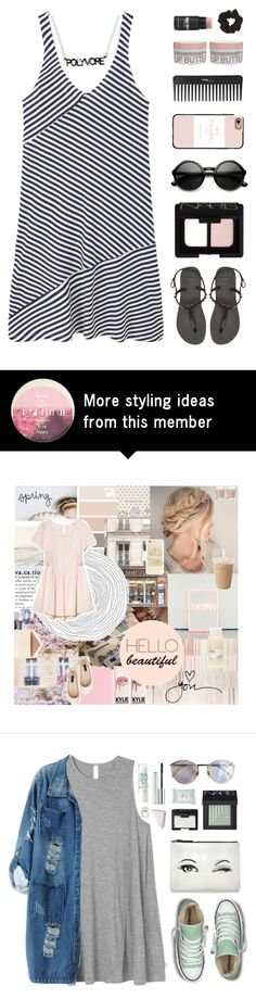 """""""Style Insider"""" by amazing-abby on Polyvore featuring MANGO, Havaianas, NARS Cosmetics, Korres, Casetify, Sephora Collection and Topshop"""
