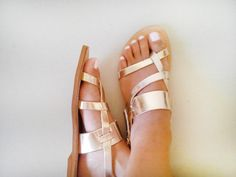 Leather Sandals  Handmade Leather Strap Sandals by Sandelles