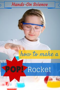 How to Build a Pop Rocket. Approved by Andrea Beaty, Author of ROSIE REVERE ENGINEER. #STEAM #STEM.