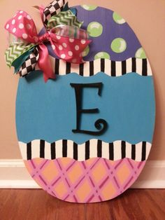 Hey, I found this really awesome Etsy listing at https://www.etsy.com/listing/178447809/easter-egg-door-hanger