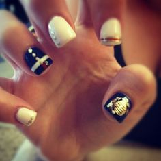 Marine Corps Nails. Love.