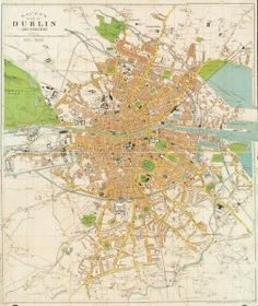 Large scale plan of #Dublin.  [Bacon's plan of Dublin and suburbs.] ([19--?]) #map #Ireland