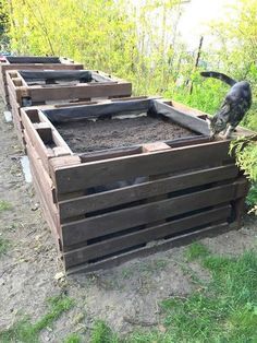 garten hochbeet Transforming Used Pallets into the Most Amazing Vegetable and Flower Beds Pallet Garden Box, Garden Boxes, Pallet Gardening, Palet Garden, Pallet Patio, Backyard Garden Design, Backyard Landscaping, Bed Made From Pallets, Potager Palettes