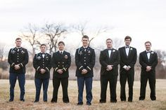 It doesn't get more handsome than this.   See more of this winter #wedding here: http://www.mywedding.com/articles/doug-and-mollys-st-louis-missouri-military-wedding-by-ashley-fisher-photography/