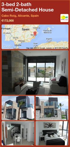 Semi-Detached House for Sale in Cabo Roig, Alicante, Spain Semi Detached, Detached House, Valencia, Portugal, Alicante Spain, Cabo, Villa, Architecture, Gallery