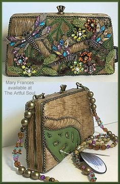 Mary Frances, Wing in the Willow    Great idea...take an old ugly purse and make it a work of art!