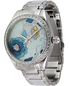 Buckle - Fossil Glitzy Floral Watch