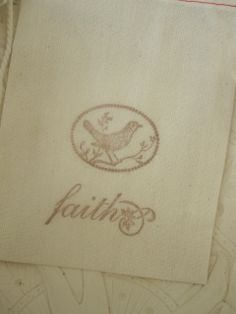 Hand Stamped Muslin Gift Bags  faith by frenchcountry1908 on Etsy, $1.50