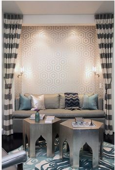living space - blue/grey/white