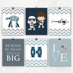 Star Wars Nursery Art Print. Storm Trooper. Boy by waiwaiartprints