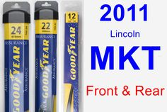 Front & Rear Wiper Blade Pack for 2011 Lincoln MKT - Assurance