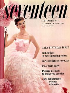 Hello dress. Will you marry us?  Seventeen magazine, September 1954.
