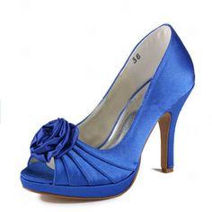 Fancy+4+inch+Hand+Made+Flower+Peep-toe+Pumps+-+Party++Special+Occasion+Shoes $69.98