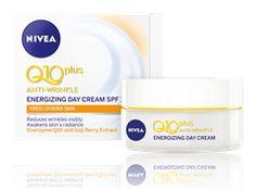 NIVEA Q10 plus Anti-Wrinkle Energy Day Care vähentää näkyvästi juonteita sekä virkistää ihoa. Sh. 11,50 euroa #nivea