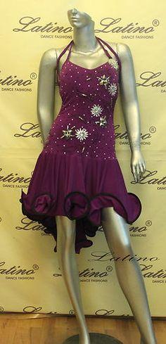 Dance Dress Competition Latin Rhythm Ballroom Salsa Size s M L LT319C | eBay