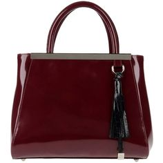 MY CHOICE Handbag ($98) ❤ liked on Polyvore featuring bags, handbags, maroon, purses, red leather handbag, shoulder bags, real leather handbags, leather purse and accessories handbags