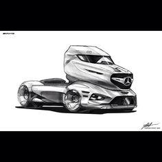 #Mercedes-Benz 3000LS AMG EDITION CONCEPT #MERCEDES #MB #sketches #sketch #research sketches #AMG #actros #future #automotive #truck #concept #autodesign #cardesign #doodle #doodles #pen STABILO #COPICS #photoshop #cs 5 #render #final render