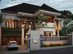Best 99 Two Storey House Plans Idea Minimalist House Design, Modern House Design, Home Building Design, Building A House, Style At Home, Style Bali, Two Storey House Plans, Bungalow Haus Design, Modern Tropical House