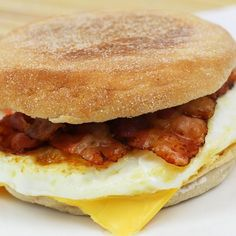 English egg and bacon muffin