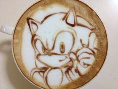 Sonic coffee art...