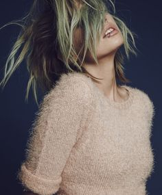 I want this more than I could ever describe. Pink fuzzy perfection <3  For Love & Lemons Blush Ski Bunny Crop Sweater