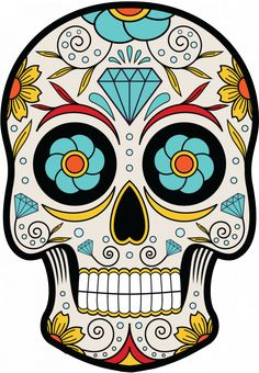 Sticker Calavera - Tete De Mort Mexicaine 14 - ref.d7452 | MPA Déco