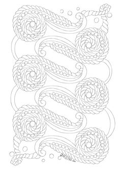 Coloring antistress lace pattern Free