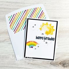 Birthday Sentiments, Cool Stickers, Paper Pumpkin, Pinwheels, Stampin Up, Projects To Try, Happy Birthday, Paper Crafts, Rainbow