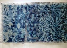 Of shadows and Light - cyanotype on 45 silk panels - 45 cm x 140 cm Sun Prints, Alternative Photography, Cyanotype, Recycled Art, Ceramic Artists, Hanging Art, Art Techniques, Textile Art, Blue And White