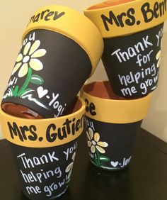 Flower pot teacher gift  Thank you for helping  by MelanieLupien