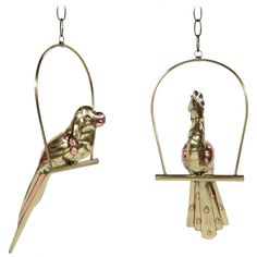 Pair of Brass/Copper Parrots by Sergio Bustamante | From a unique collection of antique and modern animal sculptures at http://www.1stdibs.com/furniture/more-furniture-collectibles/animal-sculptures/